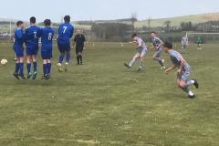 Luke Ivison's free kick beats the wall