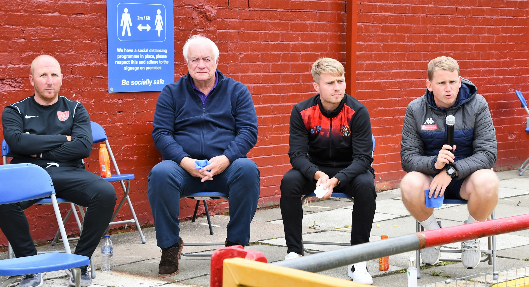 Reds Festival of Football – First Team Assistant Manager Steven Rudd answers at question at the outdoor Q&A