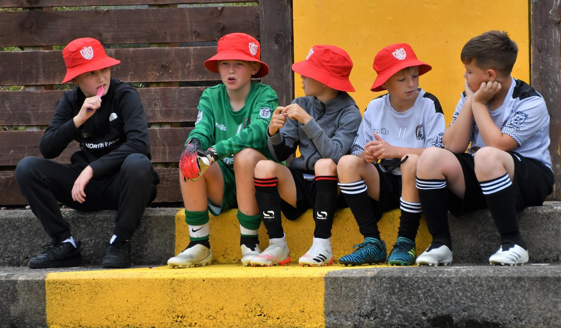 Reds Festival of Football - Reds Juniors taking a break