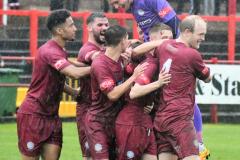 The-Reds-celebrate-Carl-Lightfoots-goal-Ben-Challis