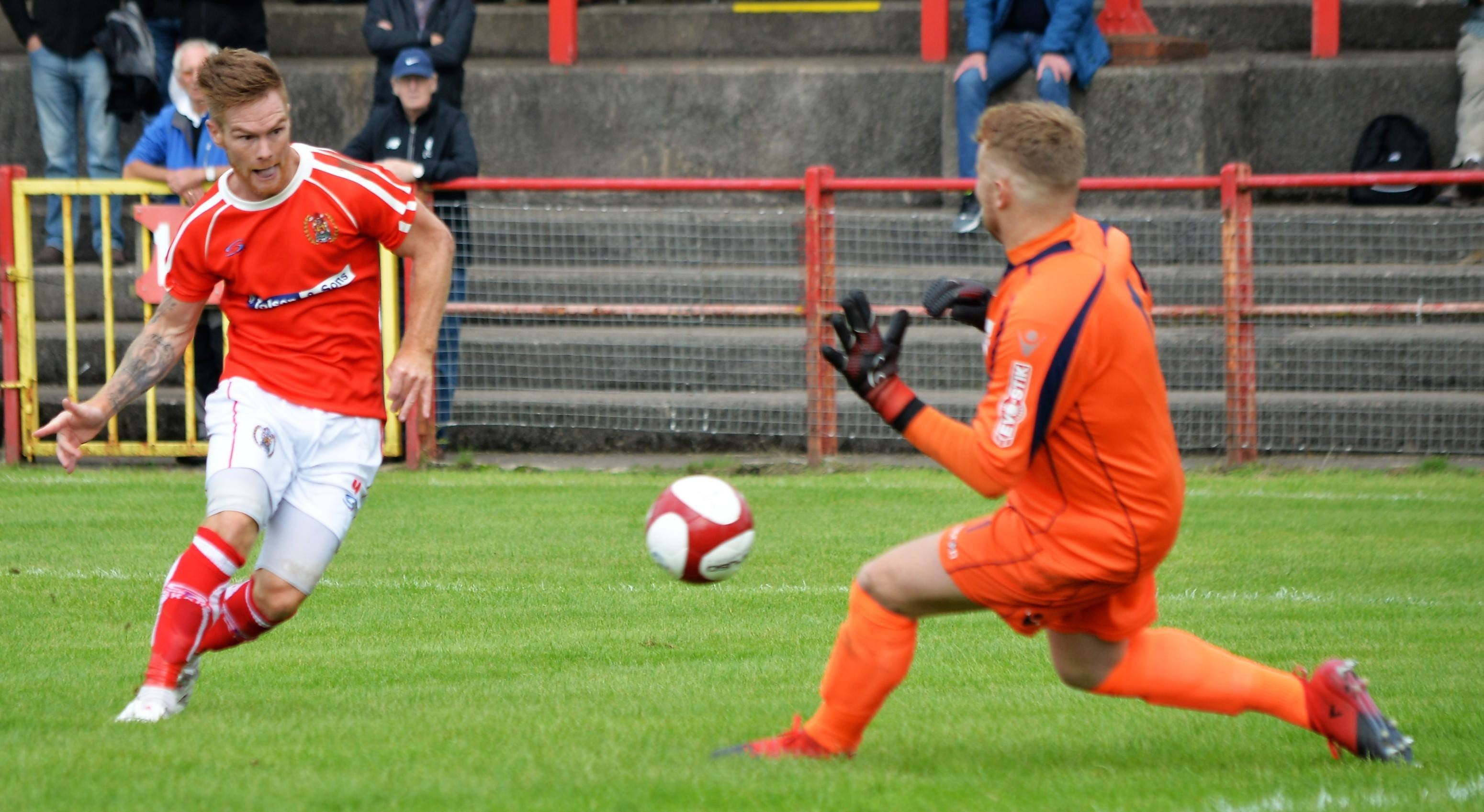 Jason Walker scores against Stafford Rangers